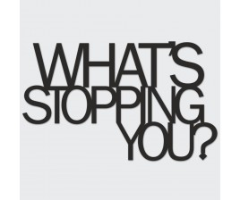 What Stopping You